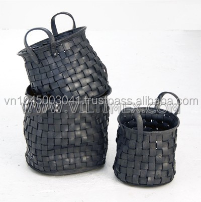 Recycled Tire Woven Baskets