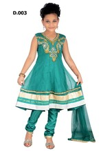 Kids salwar kameez churidars designs with extra long sleeves included for $15