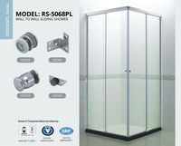 Wall To Wall Shower screen,Shower Room,sliding Door