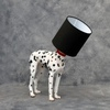 Dog Lamp White and Black Shade