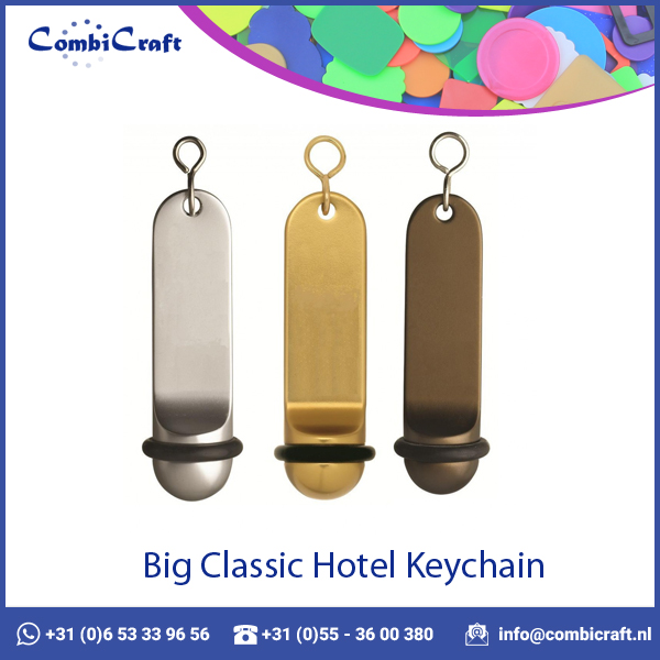 Classic Aluminium Keychain for Hotel with Engraving Facility in 3 Colors