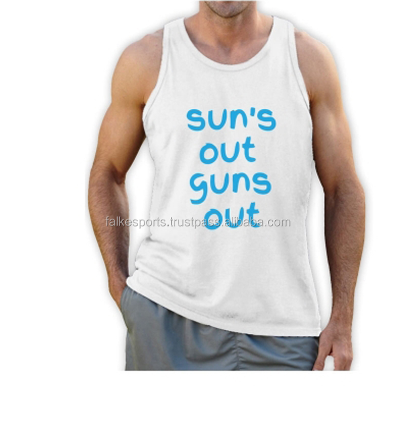 2016 New Custom made guns out Cheap Price Printed body building gym singlets tank tops undershirts for men vest wear