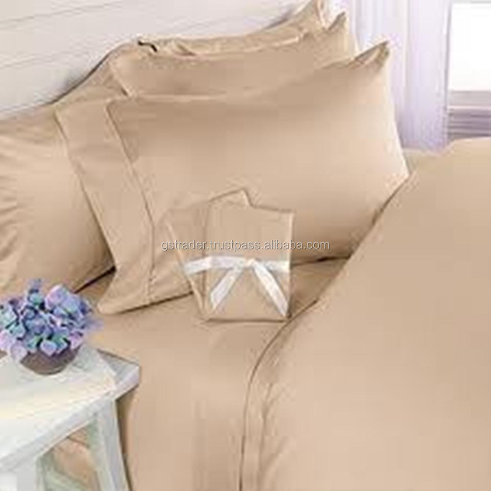 luxury Egyptian cotton sheets in solid colors