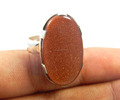 925 Sterling Silver Natural goldstone ring Jewellery