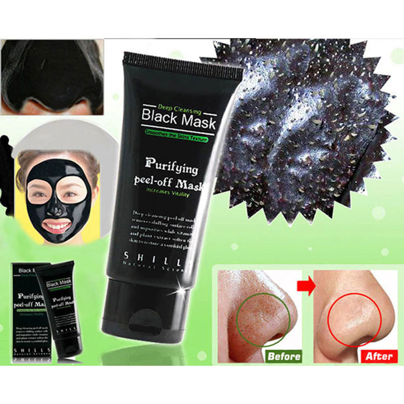 Deep Cleansing Purifying Peel Off Mud Blackhead Face Mask Black Mask Remove Black Head Makeup Beauty