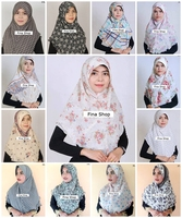 Hijab Muslim 2 layer Chiffon Scarf - Ready To Wear Hijab ,No Pin Needed