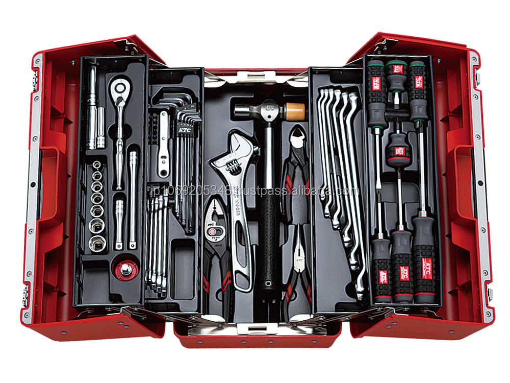 High quality, Made in Japan, MECHANIC TOOL SET / SPLIT OPEN HARD PLASTIC CASE (53pcs) / SK3536P