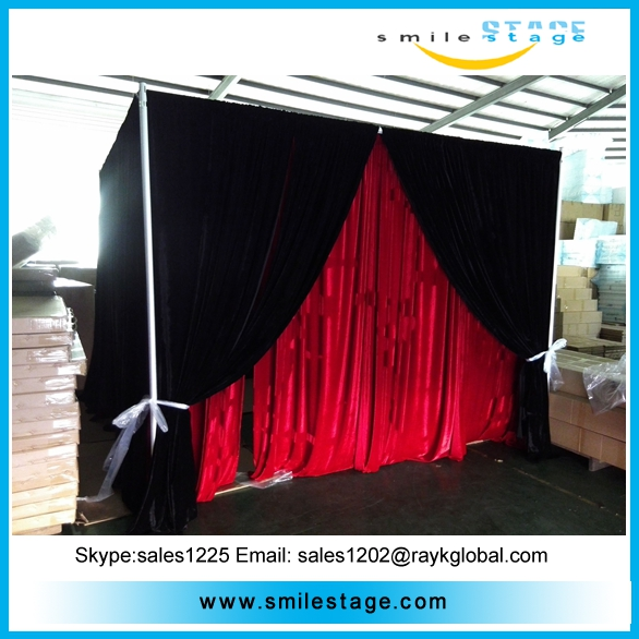 exhibition photo booth pipe and drape