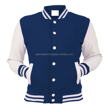 Royal Blue and White Varsity Jacket