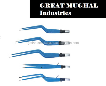 Bayonet European Bipolar Forceps by GM Electrosurgery Insulated Surgical Tools
