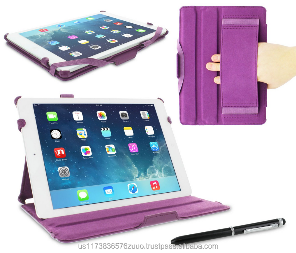 Slim Fit Premium PU leather exterior, microfiber interior Lightweight Folio Stand Smart Cover Sleep/Wake for iPad Air 1 Purple