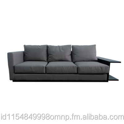 Delano Contemporary Sofa with Side Wood Frame For Minimalis Living Room Jepara Indonesia