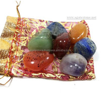 7 Chakra Tumbled Stone with Pouch : Tumble Stone in Bulk : Wholesale Tumbled