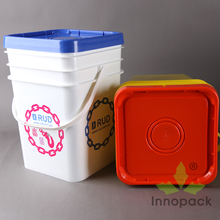 20 liter square plastic bucket plastic containers paint buckets with handle
