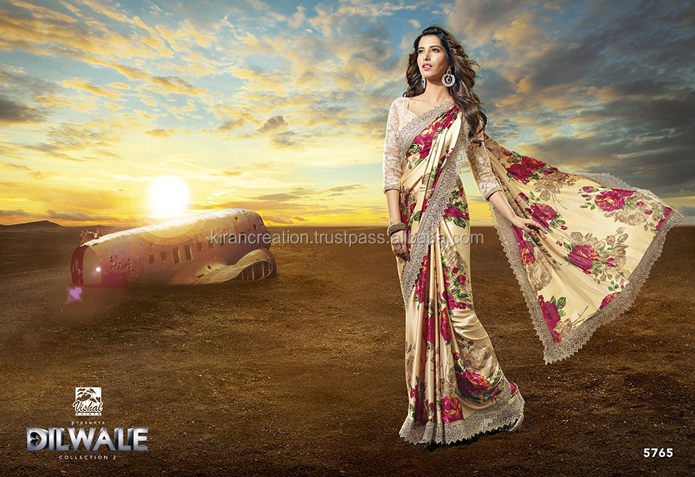 Bollywood diwale designer fancy saree from india