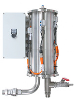ViscoTreat-P acts as a compact buffer tank integrated in the section between product feed source and dosing unit.