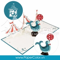 Lovely Circus Segul Pop Up Card