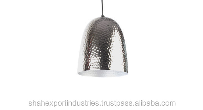 silver copper hammered Shade Pendant Lamp