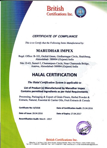 MORINGA POWDER CERTIFIED BY GMP, KOSHER, HALAL, ISO22000