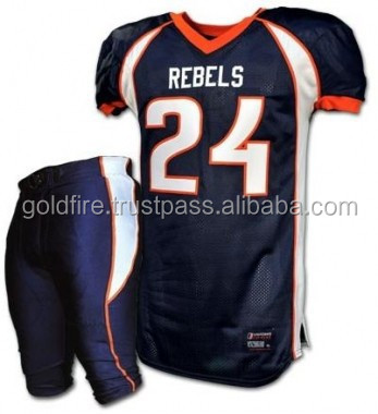 American Football Jersey breathable fabric Jersey 100% polyester mesh