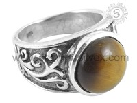 Perfect Tiger Eye 925 Sterling Silver Ring Best Collection Silver Gemstone Jewelry For Wholesaler RNCB15-1111-3