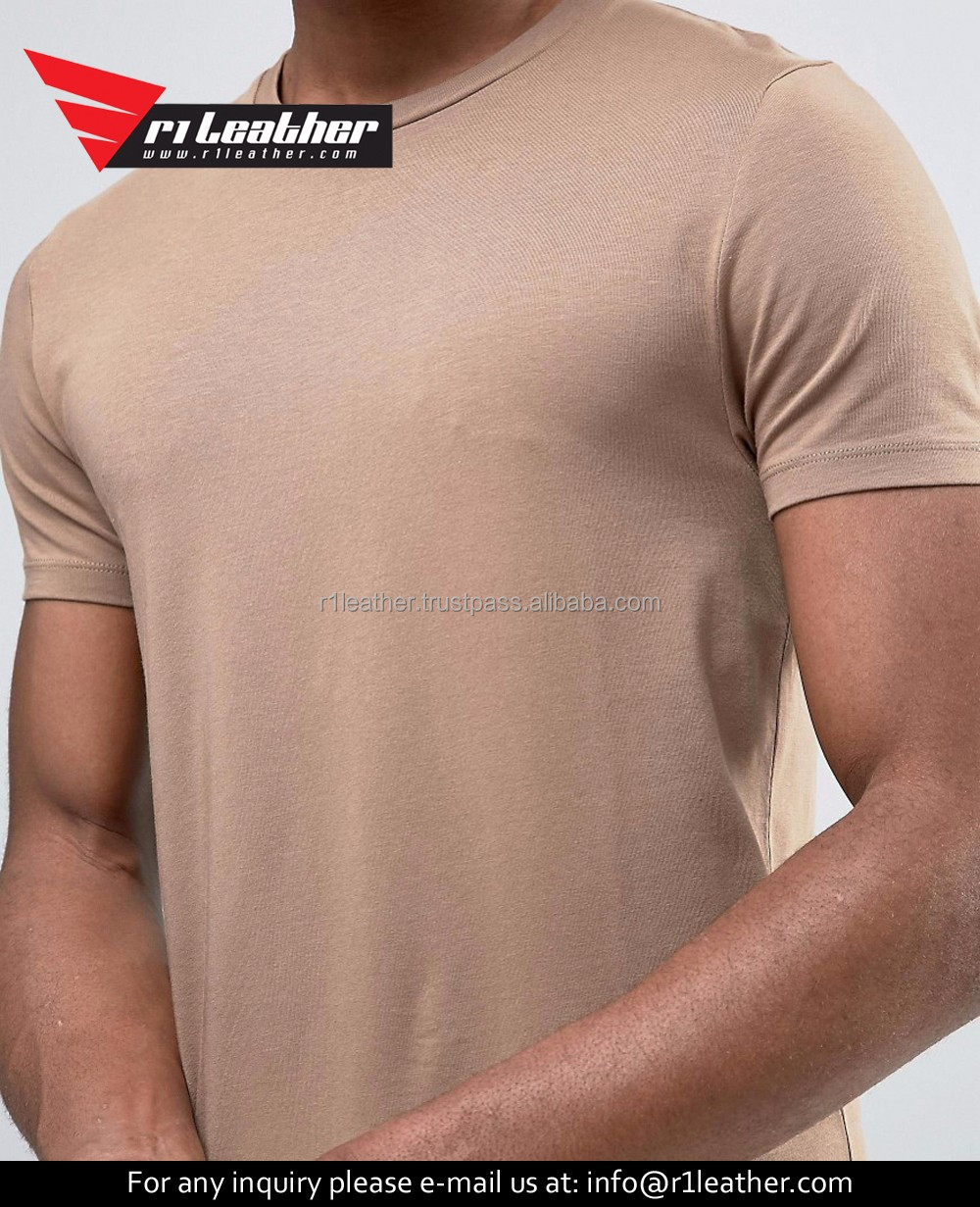 Cotton Men Blank Tshirt Slim Fit Plain T-shirt From China Manufacturer