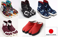 Durable made in Japan shoes men tabi shoes for unisex use , multi colors