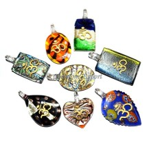 Attractive Mix Glass Om Pendants