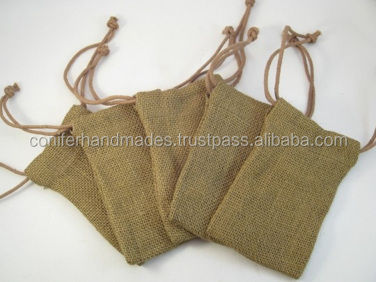 mini jute drawstring bags for promotions, giveaways, gift packaging, jewelry