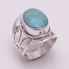 Solid 925 Silver Ring Natural Larimar