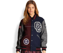 college jacket for girls/cheap custom varsity jackets