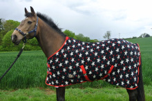 wholesale horse rugs - Horse rugs - Navy & Red Horse Fleece Rugs / horse Fleece winter rugs / Horse Fleece Coolers