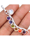 Cheap Good Quality Silver Plated Reiki Crystals Spine Chakra Pendant
