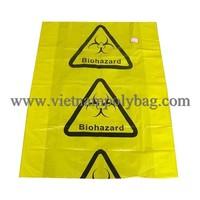 Yellow trash bag plastic biodegradable garbage bag block bottom pp bag