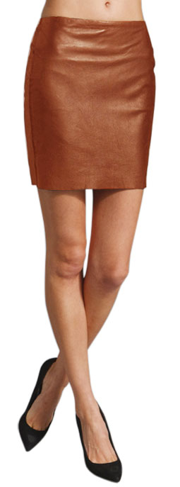Business Style Mini Leather Skirt For Women