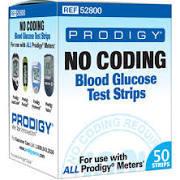 Prodigy Preferred Blood Glucose No Coding Test Strips