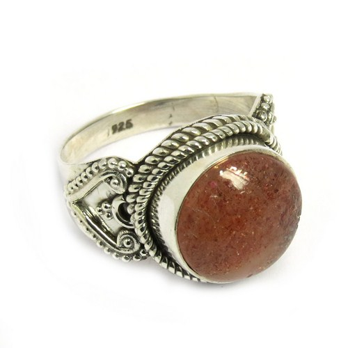 Summer Day !! Red Sun Stone 925 Sterling Silver Jewelry, Silver Jewelry, Indian Silver Jewelry