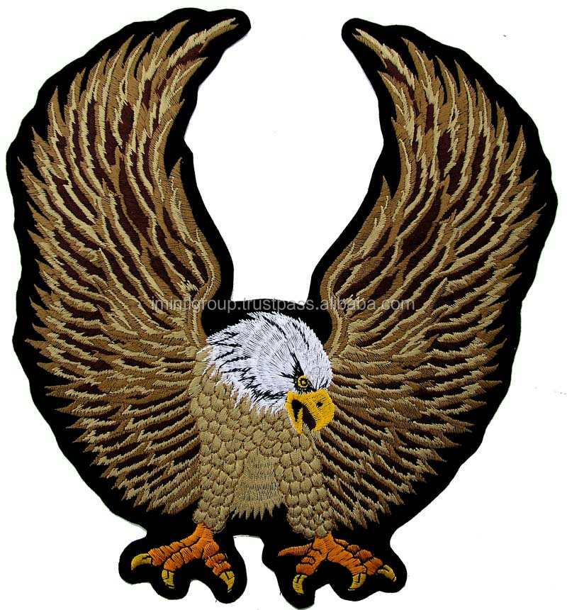 eagle custom embroidery patches in cheap price oem factory