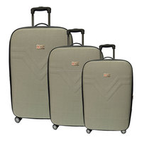 3 pieces W.POLO 4 Wheel EVA Trolley Case WE1496