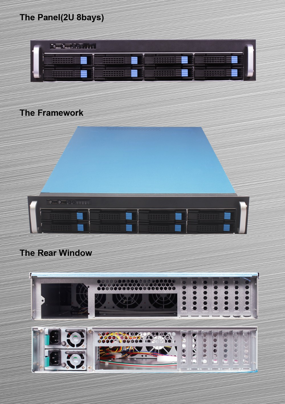 custom case 2U server chassis 8 bays Storage chassis/ hotswap case /rackmount case