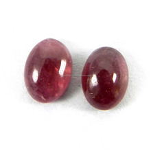 Semi Precious Natural Pink Tourmaline Gemstone 5x7mm Oval Pair Cabochon 2.4 Cts Loose Gemstone IG4265
