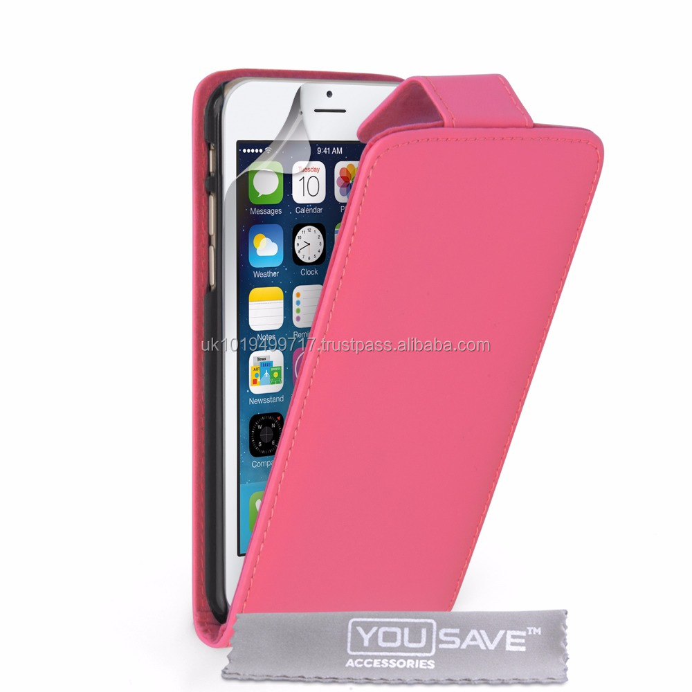 Flip Case Cover PU Leather for iPhone 6 Pink