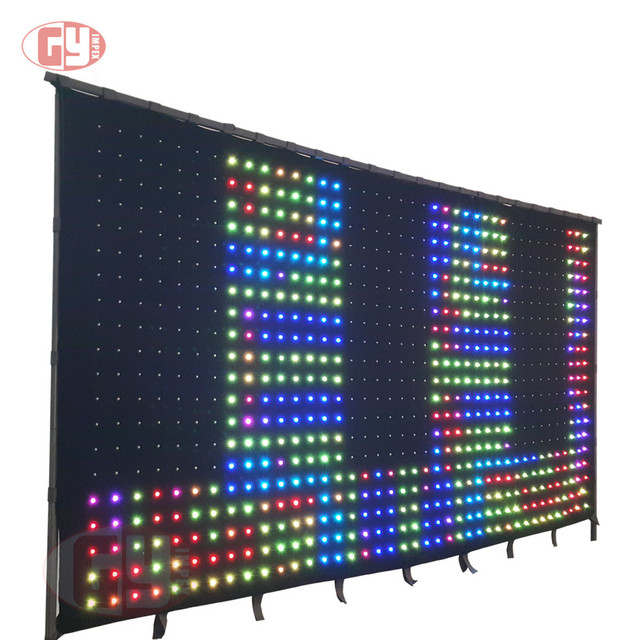 4mx6m flexable led curtain for stage and event