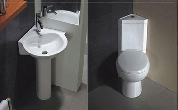 Europ enne de luxe en c ramique deux pi ce wc coin for Inodoro esquina