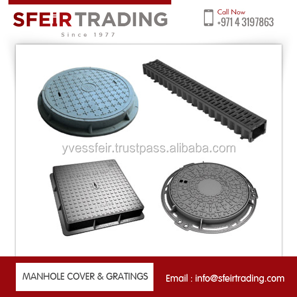 Round Shape Ductile Material Manhole Cover at Market Price