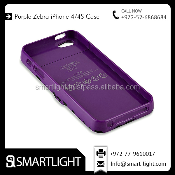 Ultra Slim Purple Cell Phone lighter Integraded Case for iPhone 4