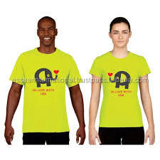 Custom Printed Unisex T-shirt Dri Fit Couple T-Shirt Design