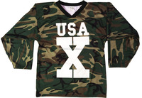 American Ice Hockey Jersey / American Custom Sublimation Ice Hockey Uniform / Custom Camo Sublimation Ice Hockey jersey