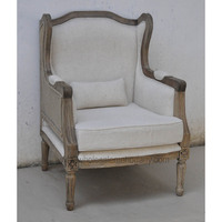 Vintage wing back chair rustic
