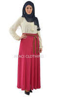 2015 new fashion a-line long skirt high waist made in turkey istanbul with belt